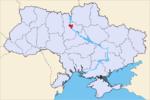 Киев на карте страны