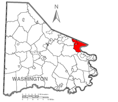 Map of Union Township, Washington County, Pennsylvania Highlighted.png