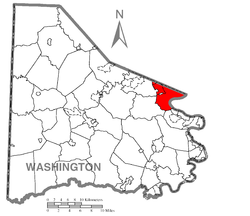 Location of Union Township in Washington County