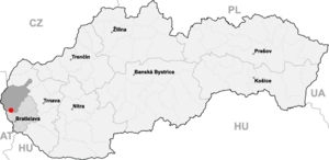 Borinka - Borinka is around 5 km east of Stupava and around 15 km north of Bratislava