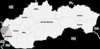 Borinka - Borinka is around 5 km east of Stupava and around 15 km north of Bratislava
