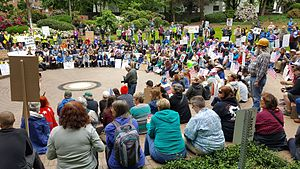 March for Truth - Protesters in Portland, Oregon