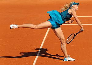 Maria Sharapova - Sharapova made the quarterfinals of the French Open, her best Grand Slam performance of 2009