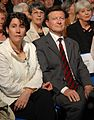 Marie-Claire Danen & Michel Diefenbacher- Sarkozy's meeting in Toulouse for the 2007 French presidential election 0218 2007-04-12.jpg