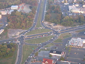 Marlton Circle - Marlton Circle in 2007, before construction started on the replacement interchange