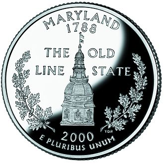 Maryland State House - Image: Maryland quarter, reverse side, 2000