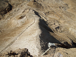 Siege of Masada - The Roman siege ramp seen from above