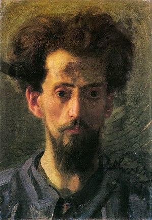 Matteo Olivero - Matteo Olivero, self-portrait, 1904.
