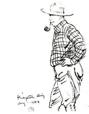 Jimmy Swinnerton - sketch by Maynard Dixon, 1922