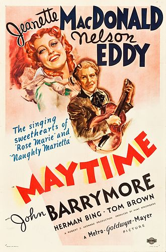 Maytime (musical) - Poster for the 1937 film adaptation