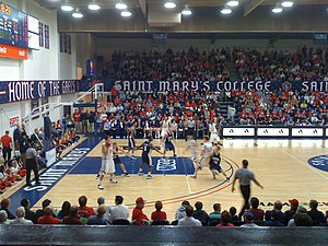 Saint Mary's Gaels - The Saint Mary's men's basketball team playing in McKeon Pavilion in 2009.