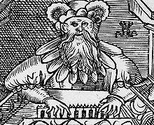Detail from Unterricht der Visitatorn, an die Pfarherrn in Hertzog Heinrichs zu Sachsen Fürstenthum, Gleicher form der Visitation im Kurfürstenthum gestellet, woodcut by Lucas Cranach the Younger, Wittenberg, 1539 (Source: Wikimedia)