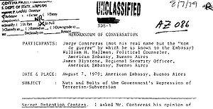 Batallón de Inteligencia 601 - Image: Memorándum Embajada USA del 07AG 1979 Contreras