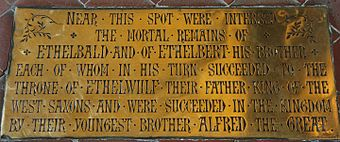 Memorial to Ethelbald and Ethelbert in Sherborne Abbey.jpg