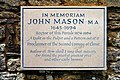 "Memorial to John Mason ""The Glory of the Church of England"" - geograph.org.uk - 1343848.jpg"