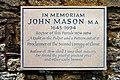 "Memorial to John Mason ""The Glory of the Church of England"" - geograph.org.uk - 1343848.jpg"