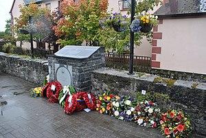 John Moyney - Memorial to John Moyney, V.C., at Mill Road, Rathdowney, Co. Laois.