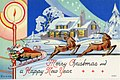 Merry Christmas and Happy New Year, santa and his reindeer (NBY 9779).jpg