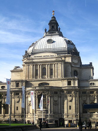 Methodist Central Hall, Westminster - Front entrance