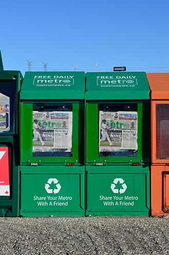 Metro International - Metro newspaper vending boxes in Toronto