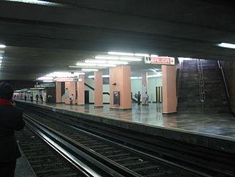 Metro San Lázaro - View of Pantitlán or eastbound platform at San Lázaro