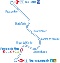Línea 1 Metro Ligero De Madrid Wikipedia La Enciclopedia Libre