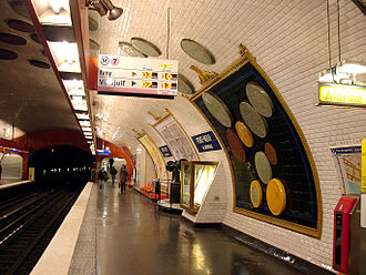 Pont Neuf (Paris Métro) - Image: Metro de Paris Ligne 7 Pont Neuf 02