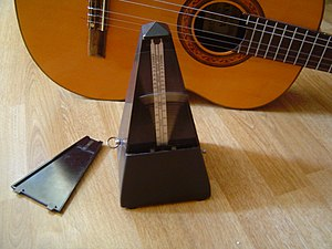 Metronome with guitar