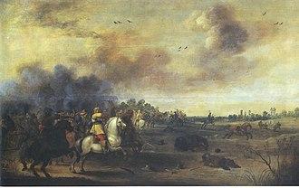 Battle of Lützen (1632) - Image: Meulener Gustav Adolf in der Schlacht bei Lützen