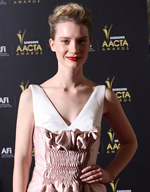 Mia Wasikowska - Wasikowska at the 2012 AACTA Awards