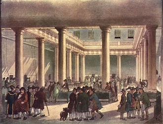 Market (economics) - Corn Exchange in London, circa 1809