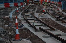 Midland Metro - track laying - Upper Bull Street - Birmingham 13.JPG