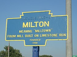 Official logo of Milton, Pennsylvania