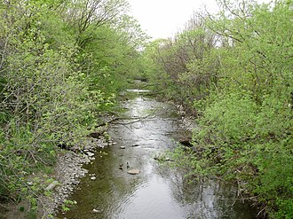 Mimico Creek - Mimico Creek as it flows through Etobicoke, south of Bloor Street