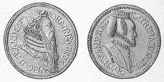 Reformation in Sweden - Memorial coins. King John III of Sweden and queen Catherine Jagiellon attempted to introduce a counter-reformation.