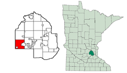 Location of Minnetristawithin Hennepin County, Minnesota
