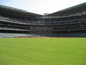 Center fielder - View from center field at Minute Maid Park.