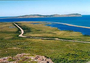 Landscape of Miquelon.