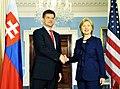 Miroslav Lajčák & Hillary Clinton.jpg