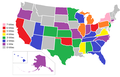 Miss America title holders by state.png