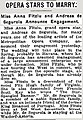 Miss Anna Fitziu and Andreas de Segurola Announce Engagement in the New York Times on November 22, 1920.jpg