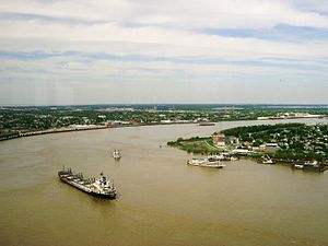 Sungai Mississippi di New Orleans.