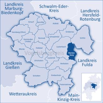Wartenberg, Hesse - Image: Mittelhessen Vogelsberg War