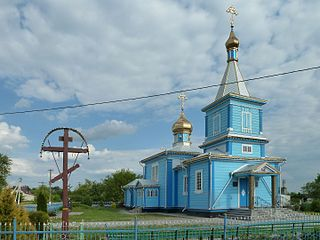 Mokrets Turiyskyi Volynska-Church of the Assumption-north-west view.jpg