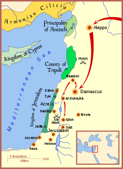 Mongol raids in Syria and Palestine 1260.svg