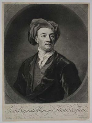 Jean-Baptiste Monnoyer - Jean-Baptiste Monnoyer, engraving of his self-portrait