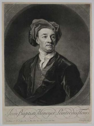 Jean-Baptiste Monnoyer - Jean-Baptiste Monnoyer, engraving of his self-portrait