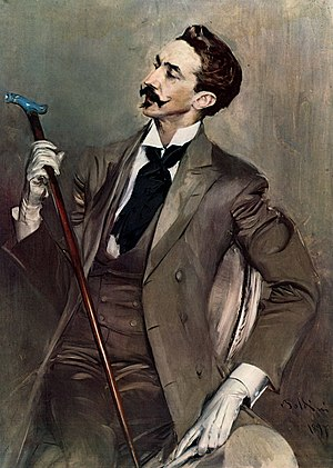 Dandy - Robert de Montesquiou (1855–1921) portrait by Giovanni Boldini