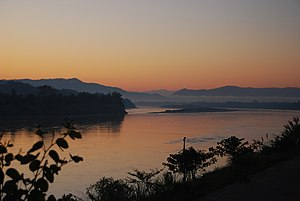 Morning view over the Mekong river