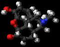Morphinone molecule ball.png